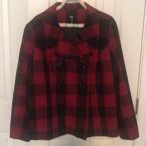PEA COAT BuFfaLo PlAid GAP